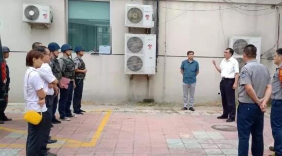 北京保安开展联合处突演练 筑牢国庆安保防线